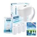 """Zestaw dzbanek 3,5l alkalizujący wodę + 5 filtrów + książka """"Woda zjonizowana. Mity, fakty, medycyna"""""""